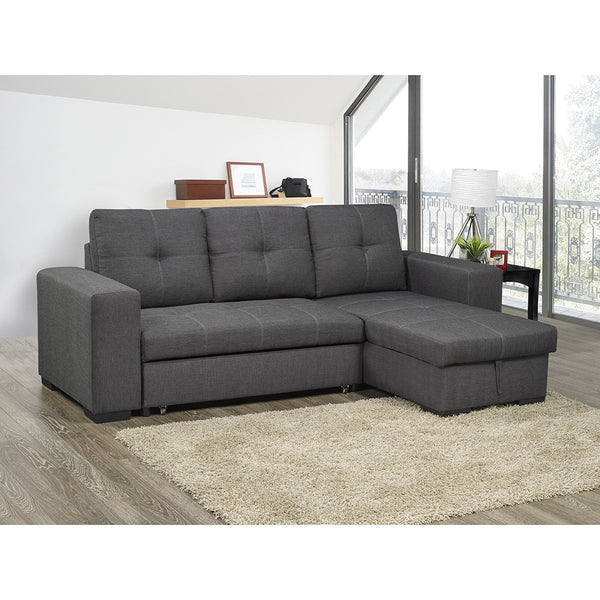 Stationary Sectional Pull Out Sofa Bed