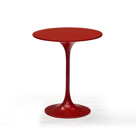 Red Round Modern End Table - 401143