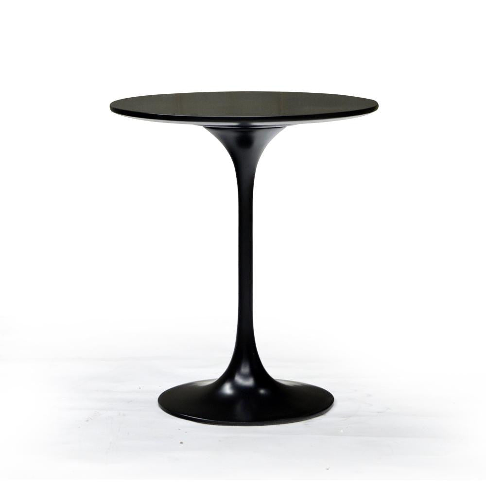 Black Round Modern End Table - 401143