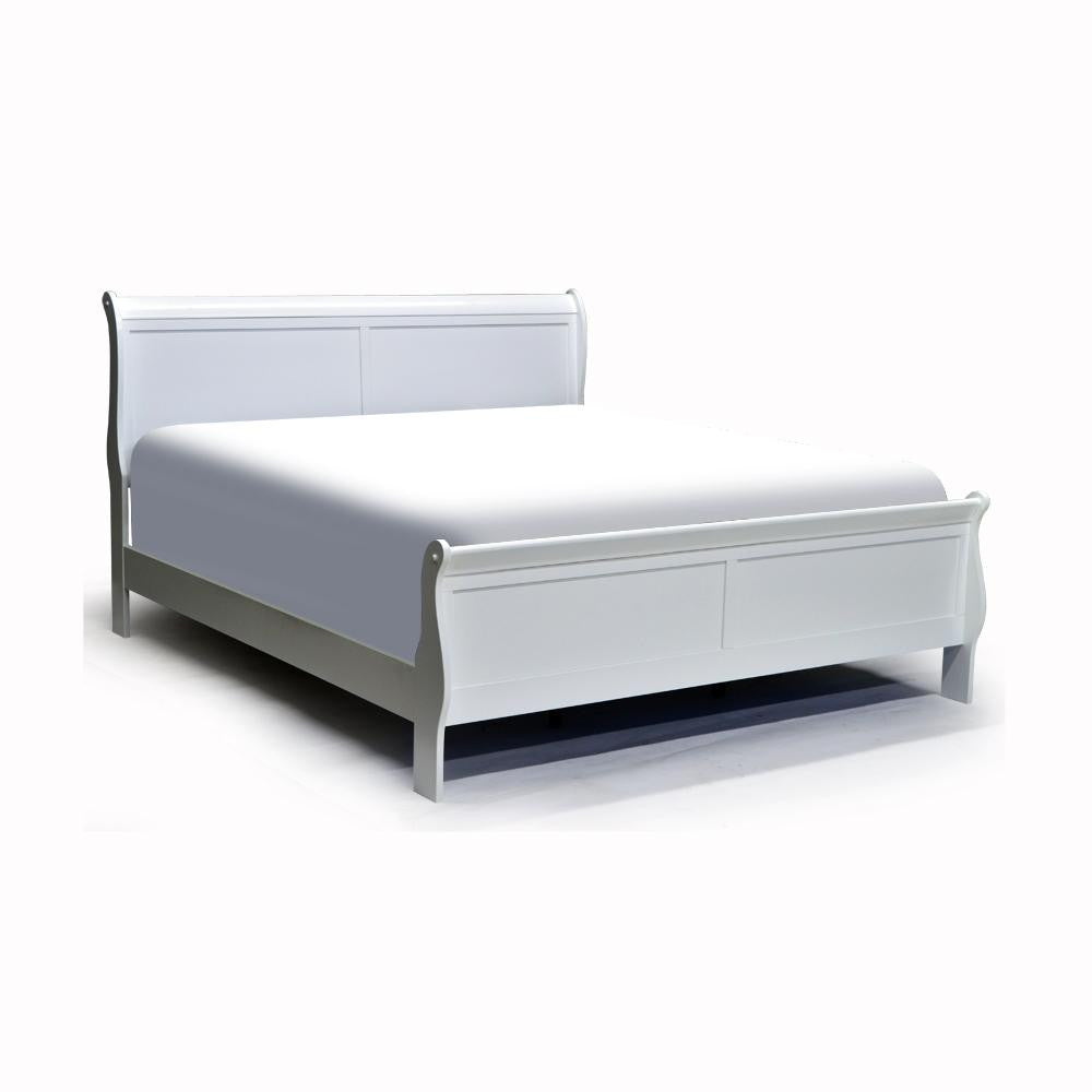 White Color Double Bed - 2147