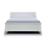 White Color Queen Bed - 2147