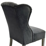 Velvet Wing Chair - Babar