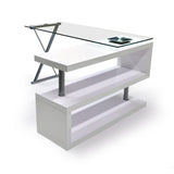 Swivel Glass Top Computer Desk - 739W
