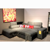 LHF Sofa Bed Sectional w/ Ottoman - 9524