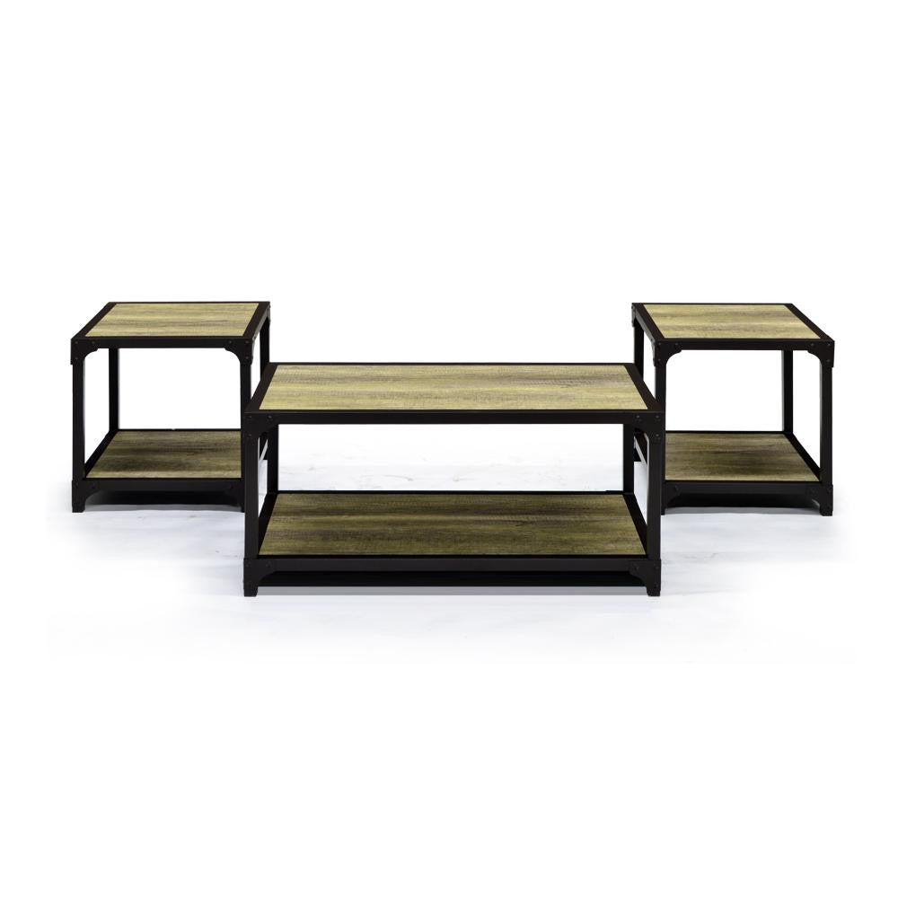 Reclaimed Looking Coffee Table w/2 End Tables - 2951
