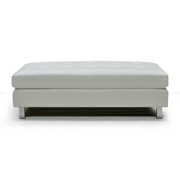 Bonded Leather Ottoman - 9782