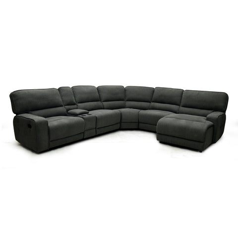 Grey Fabric Recliner Sectional - 9906