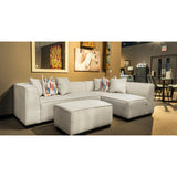 Contemporary Cream Fabric Sectional - 9916