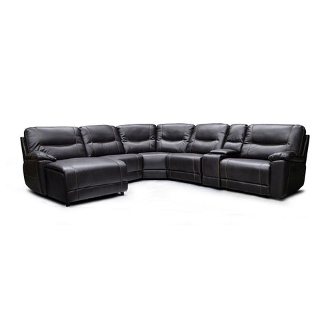 Leather Aire 5 Piece Sectional - 9917