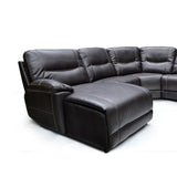 Leather Aire 5 Piece Left Hand Side Sectional - 9917