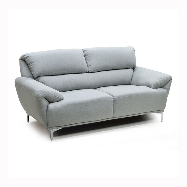 Contemporary Grey Color Sofa Loveseat