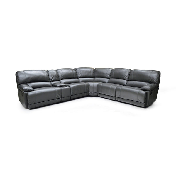 Grey Color Recliner Sectional - 9942
