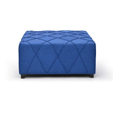 Cocktail Ottoman In Blue - Alyssa
