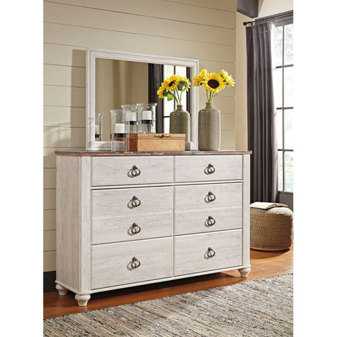 Edmonton Furniture Store | Urban Rustic White Wash Dresser - B267