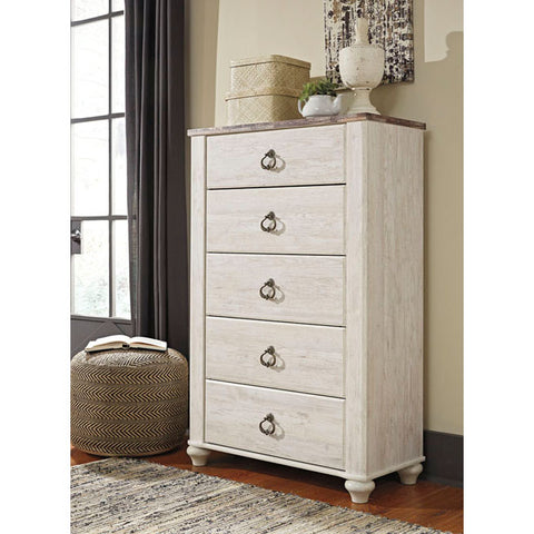 Edmonton Furniture Store | Urban Rustic White Wash Chest - B267