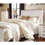 Edmonton Furniture Store | Urban Rustic White Wash Bedroom Set - B267