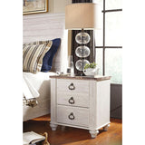 Edmonton Furniture Store | Urban Rustic White Wash Night Table - B267