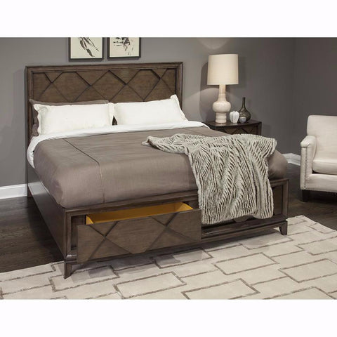 Complete Queen Panel Storage Bed- B4283-55
