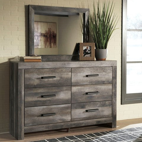 Edmonton Furniture Store | Rustic Gray Mirror - B440
