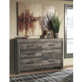 Edmonton Furniture Store | Rustic Gray King Upholstered Poster Bed - B440