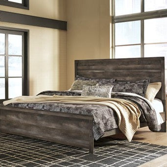 Edmonton Furniture Store | Rustic Gray Queen Panel Bed - B440
