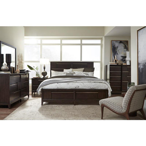 Edmonton Furniture Store | Reddish Brown Modern Storage Bed -  B4769 Modern Geometry