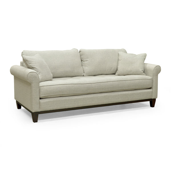 Edmonton Furniture Store | Palliser Roll Out Arm Bench Seat Custom Fabric Sofa - Brook