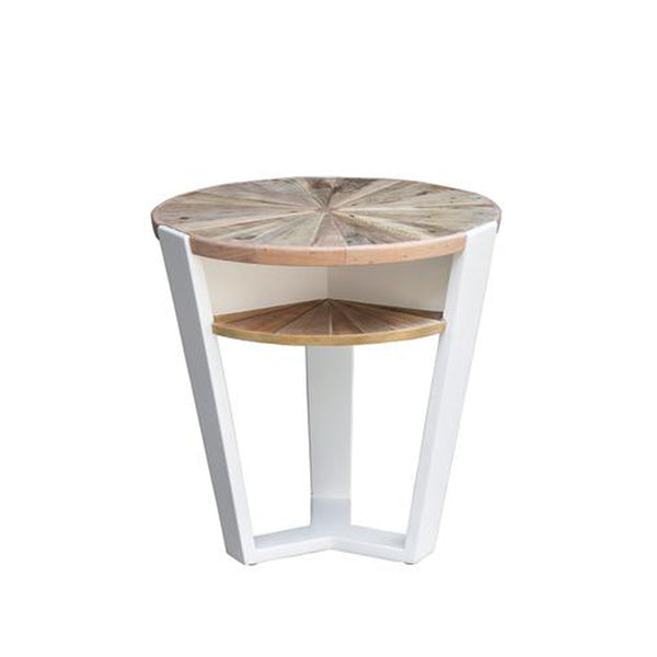 Reclaimed Round End Table - Casablanca