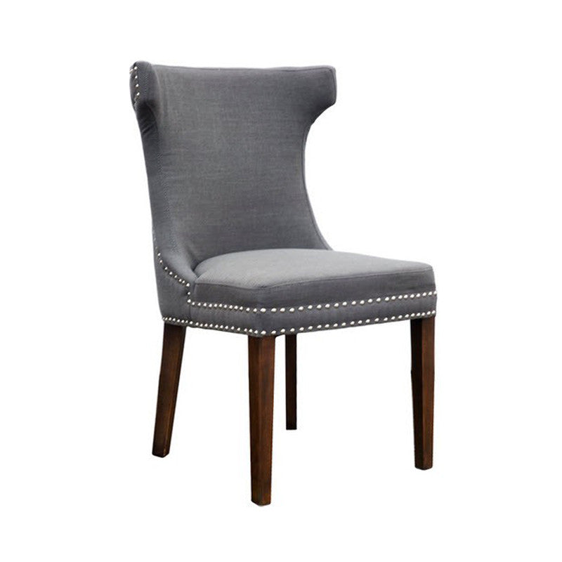 Nailheads Wing Back Dining Chair