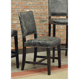 Edmonton Furniture Store | Genuine Leather Dining Pub Chair - Clay