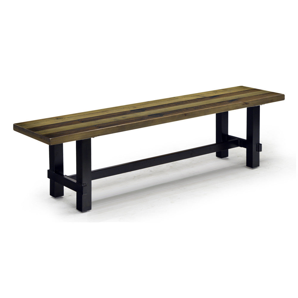 Recylced Pine Wood Dining Bench - Cruz