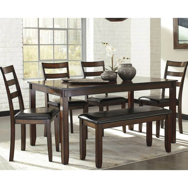 Edmonton Furniture Store | Brown Dining Table Set - D385-325