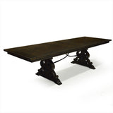 Rustic Solid Pine Dining Table with 2 Leaves