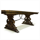 Rustic Solid Pine Dining Table w/2 Leaves - D4210