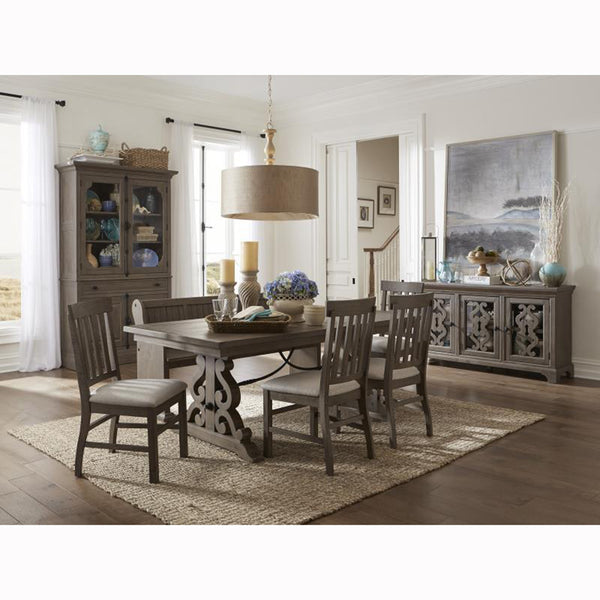 Rustic Driftwood Dining Set Table w/ 4 Chairs - D4419