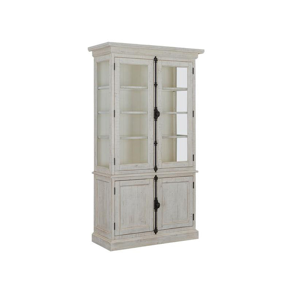 Edmonton Furniture Store | White Wash Rustic Solid Dining Cabinet  - Bronwyn