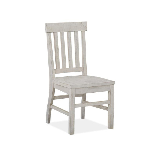 Edmonton Furniture Store | White Wash Rustic Solid Dining Side Chair - Bronwyn