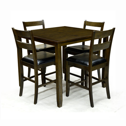 Solid Wood Dining Table with 4 Chairs- Dylan