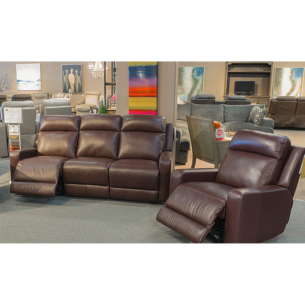 Edmonton Furniture Store | Palliser Power Genuine Leather Recliner Sofa Chair Open Box - Forest Hill