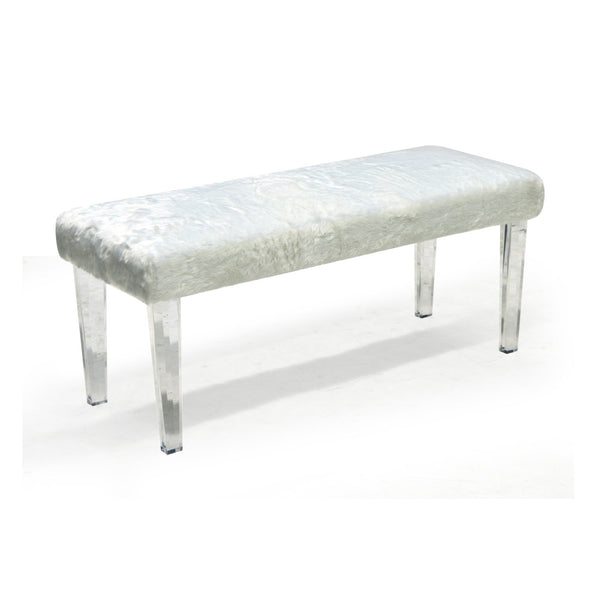 Double Bench in White Color - Gia