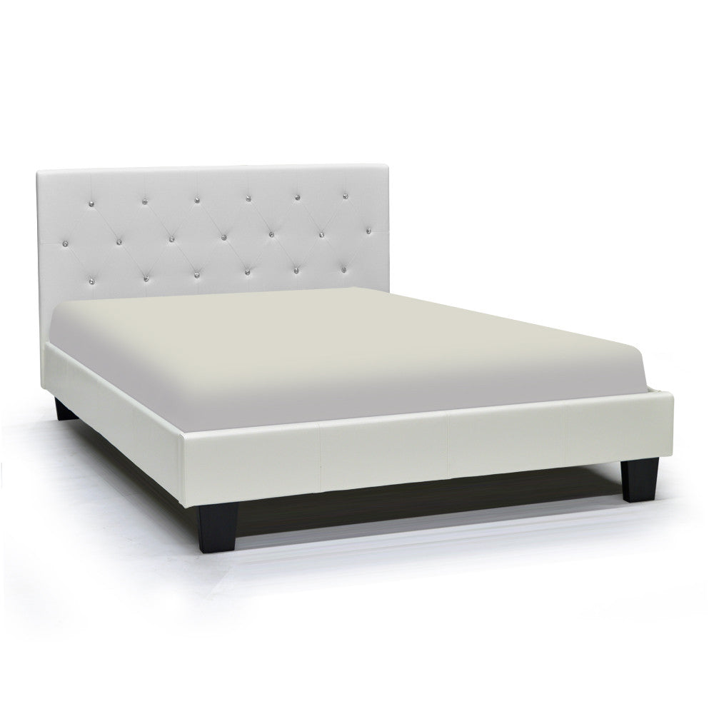 White Queen Bed - Glitz