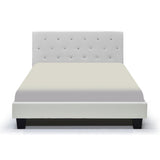 White Color Platform Double Bed - Glitz