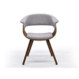Grey Fabric and Bent Wood Accent Chair - Holt