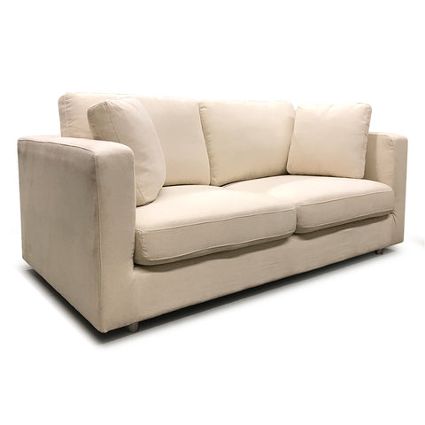 Italian Style Low Profile Fabric Loveseat - 17001