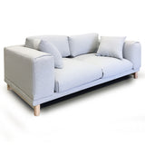 Italian Style Low Profile Fabric Loveseat