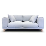 Italian Style Low Profile Fabric Loveseat - 17091