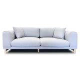 Italian Style Low Profile Fabric Sofa Loveseat Set - 17091