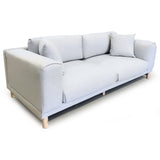 Italian Style Low Profile Fabric Sofa