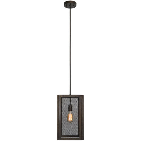 Emis 1 Light 10 inch Graphite Pendant Ceiling Light - LPC4083