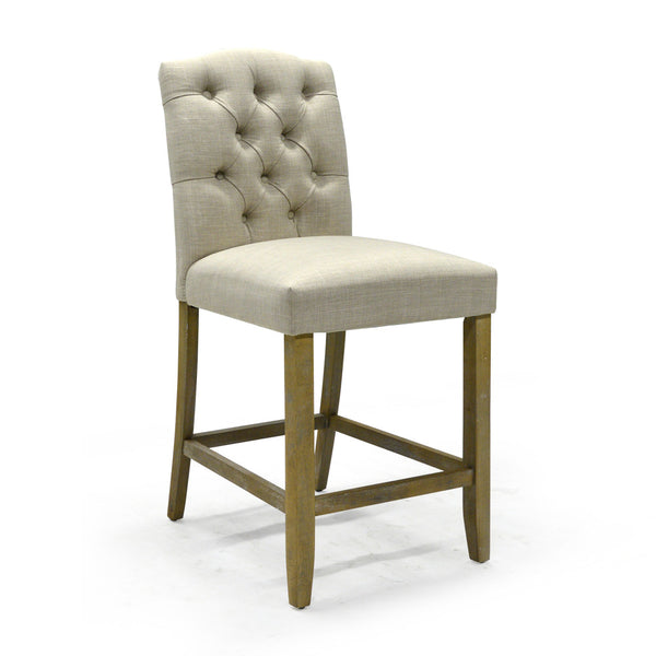"Fabric 26""Counter Chair in Cream Color - Lucian"